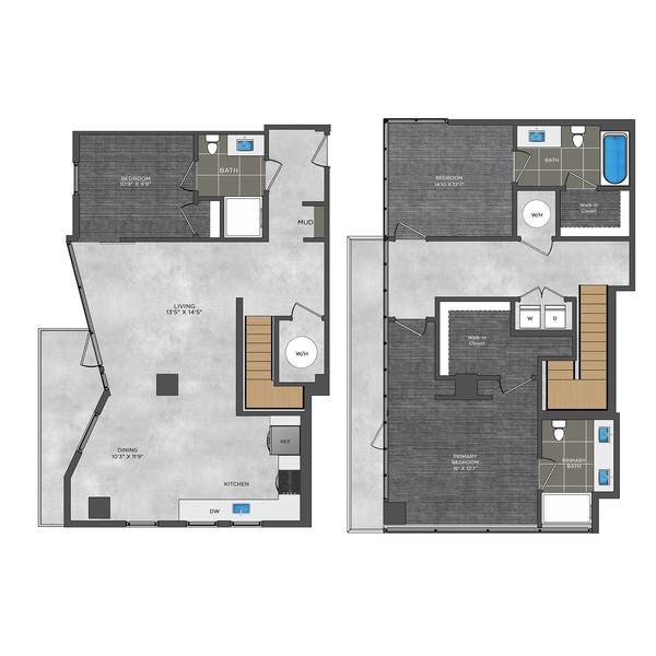 A 2D drawing of the LE4.1 floor plan