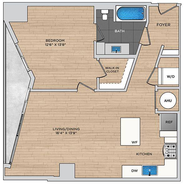 A 2D drawing of the A3.1 floor plan