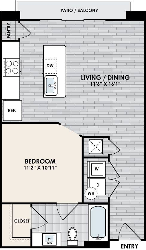 A 2D drawing of the E2 floor plan