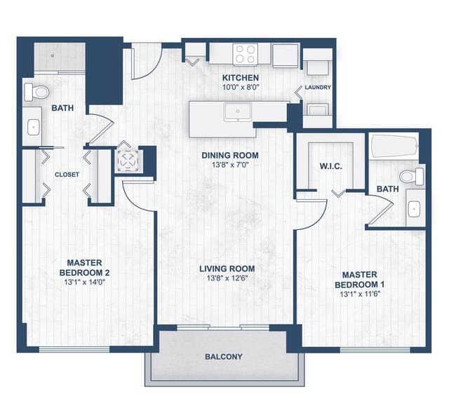 A 2D drawing of the Flores floor plan
