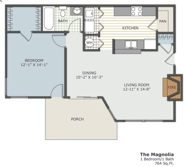 A 2D drawing of the The Magnolia  floor plan