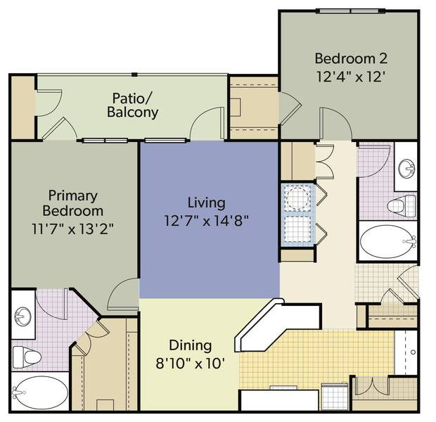 A 2D drawing of the B4 Renovated floor plan