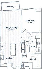 A 2D drawing of the TA11 floor plan