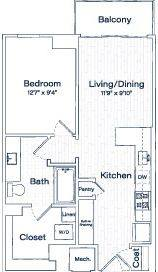 A 2D drawing of the TA15 floor plan