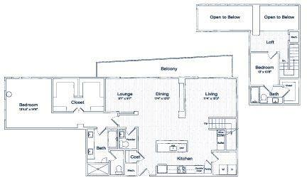 A 2D drawing of the PH2  floor plan