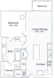 A 2D drawing of the TA9 floor plan