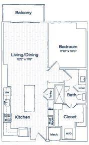 A 2D drawing of the TA6 floor plan