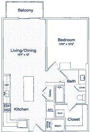 A 2D drawing of the TA10 floor plan