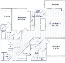 A 2D drawing of the TB8 floor plan