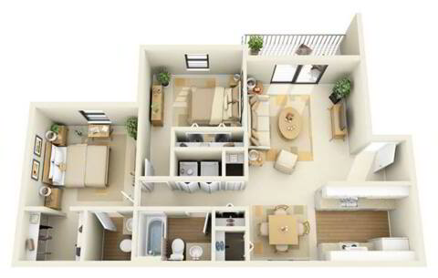 Floorplan Juniper Renovated layout