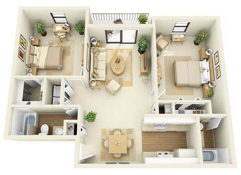 Floorplan Magnolia layout