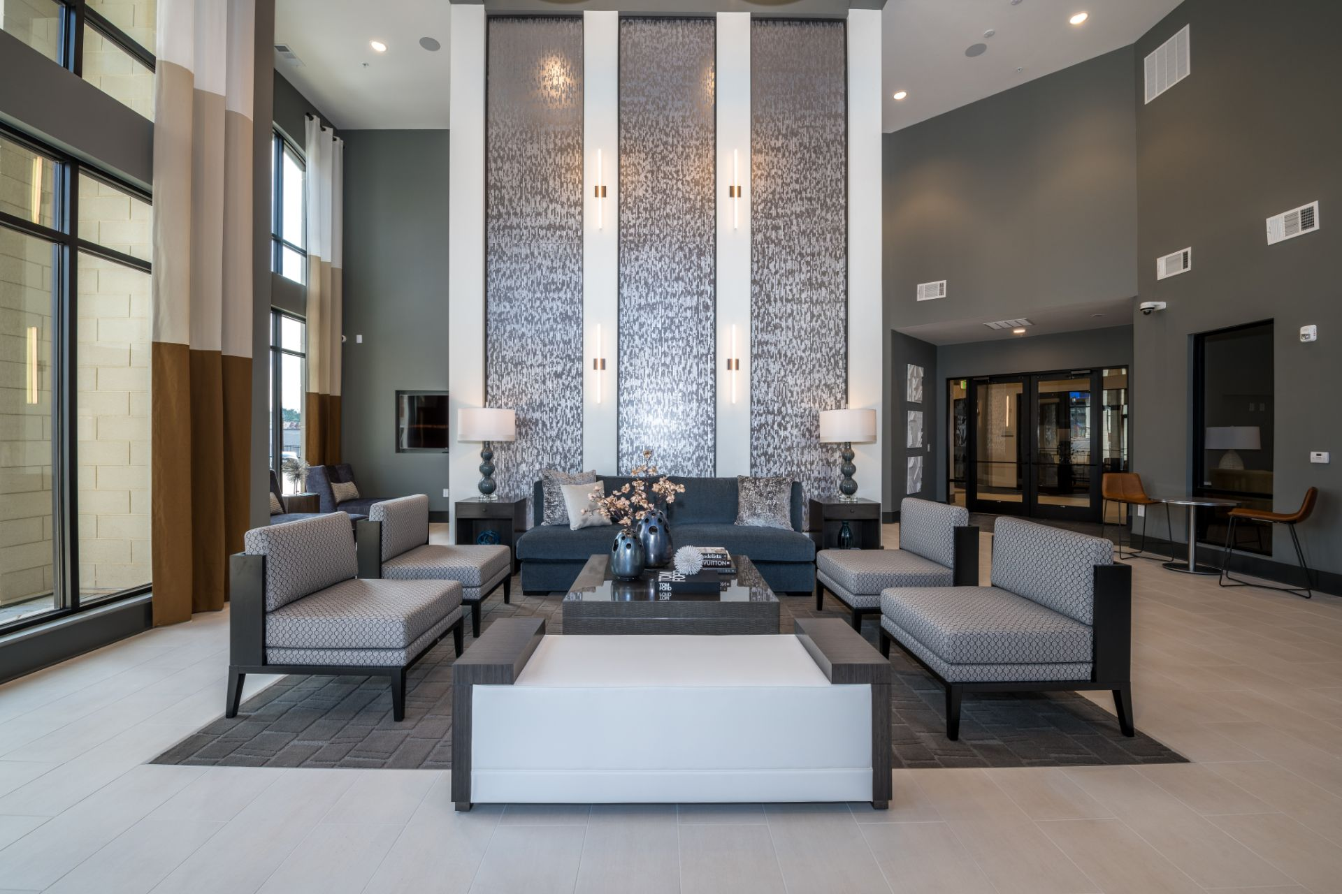 Apartment clubhouse lobby