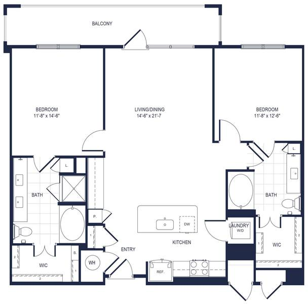 A 2D drawing of the B6 floor plan