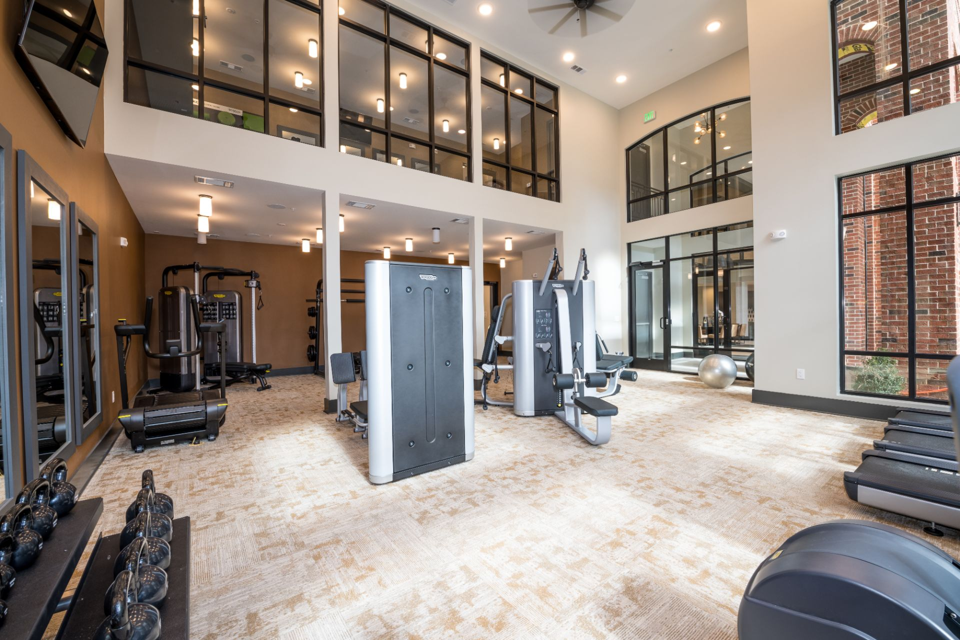 Fitness center interior