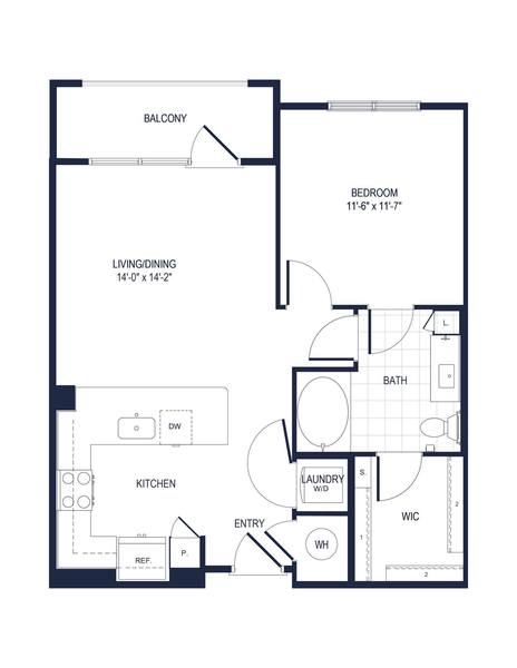 A 2D drawing of the A1-1 floor plan