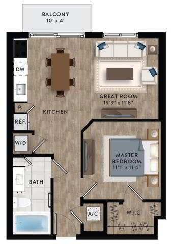 Floorplan A1-A layout