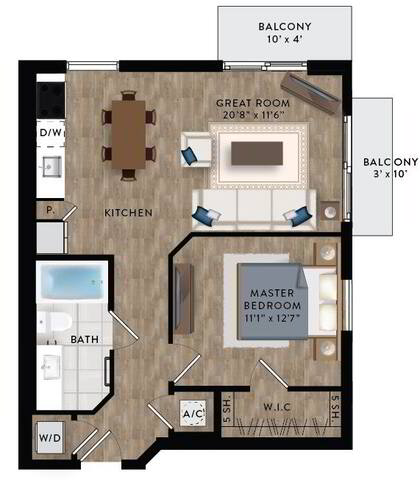 Floorplan A1-C layout