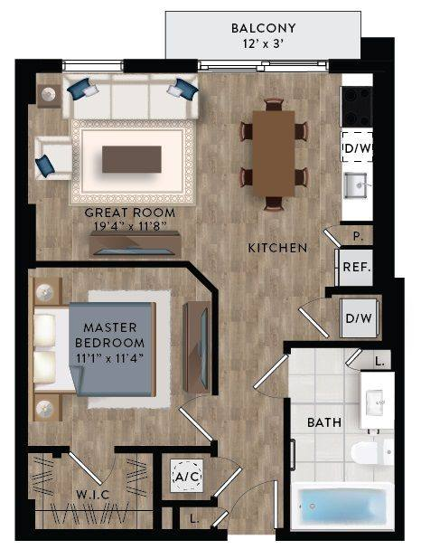 A 2D drawing of the A3-A floor plan