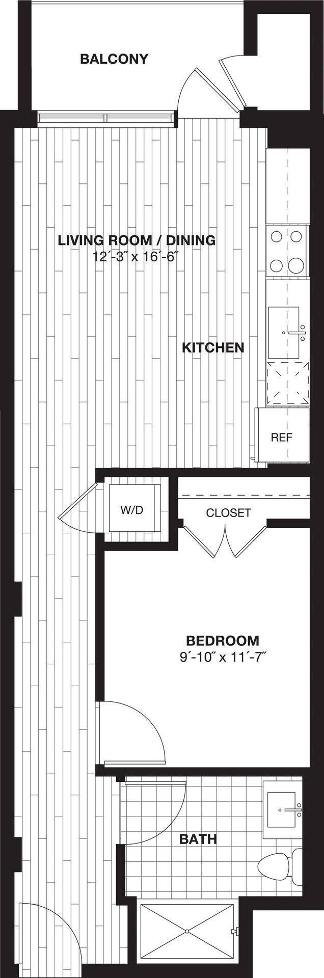 A 2D drawing of the S5 floor plan