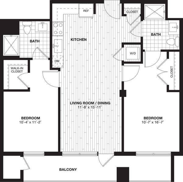 A 2D drawing of the B1B floor plan