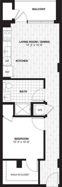 A 2D drawing of the S3 floor plan