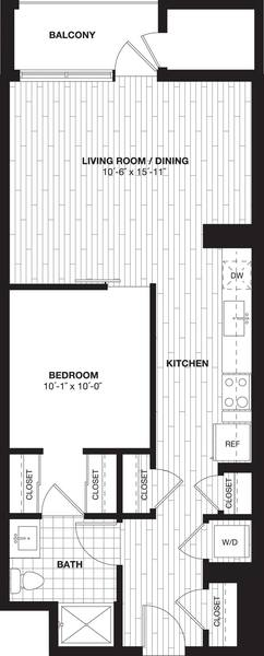 A 2D drawing of the S7B floor plan