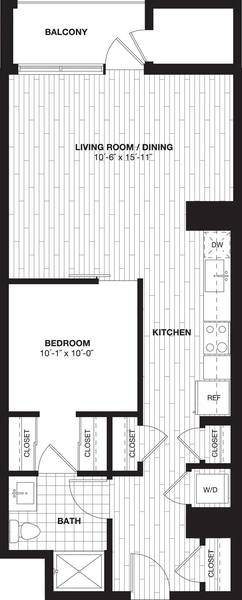 A 2D drawing of the S7A floor plan
