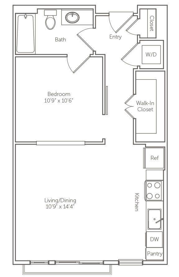 A 2D drawing of the The Palmetto floor plan