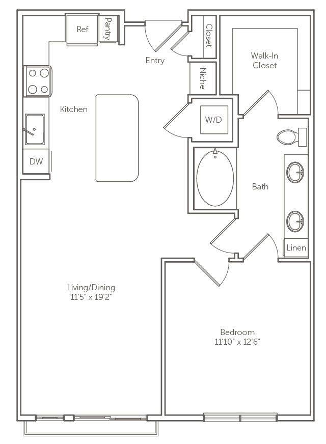 A 2D drawing of the The Camellia floor plan
