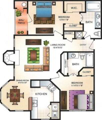 Floorplan Green Ash layout