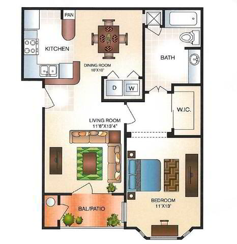 Floorplan Aspen layout