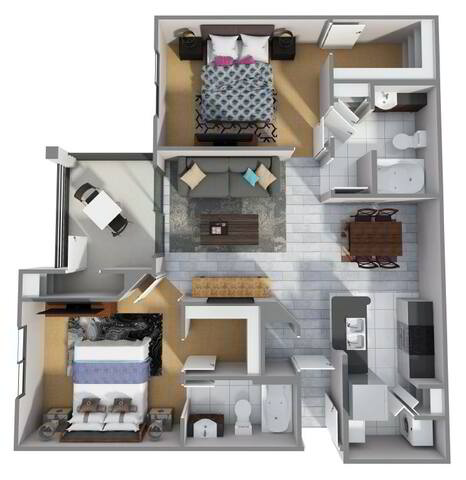 Floorplan B1R layout