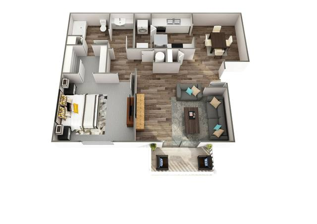 A 2D drawing of the Weatherly floor plan