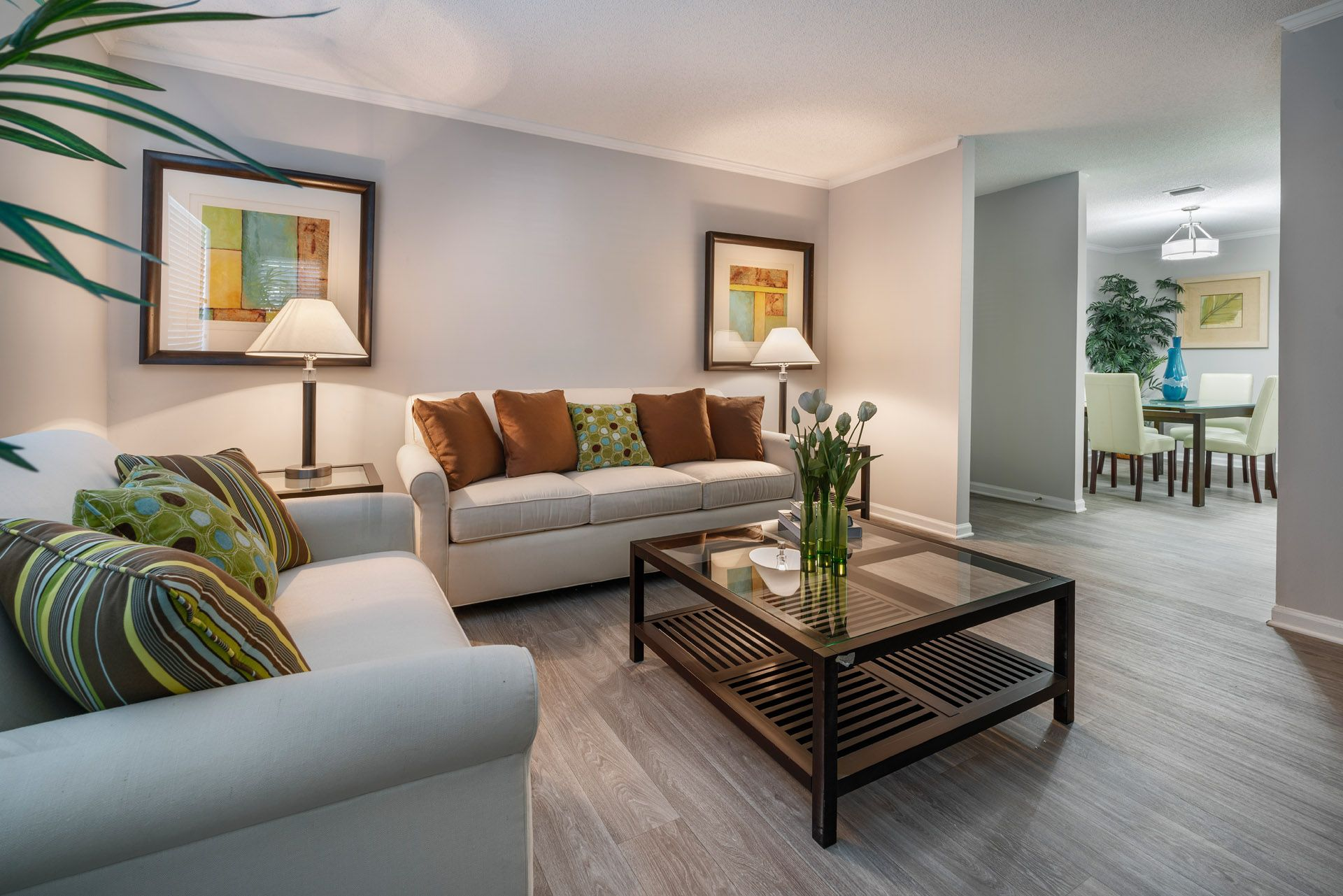 Living room with couches and coffee table