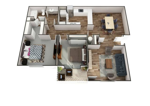 A 2D drawing of the Bali floor plan
