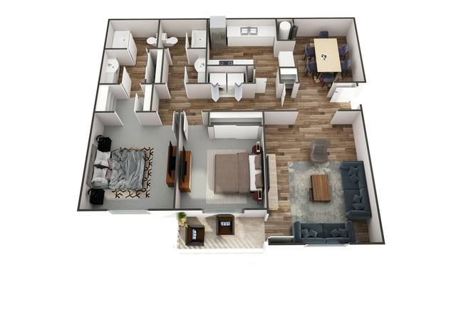 A 2D drawing of the Mariah floor plan