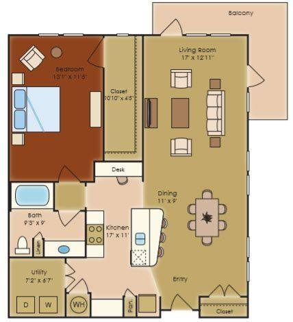 A 2D drawing of the A3g floor plan
