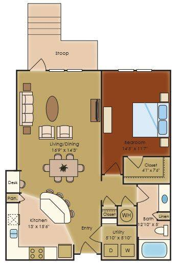 A 2D drawing of the A2e floor plan