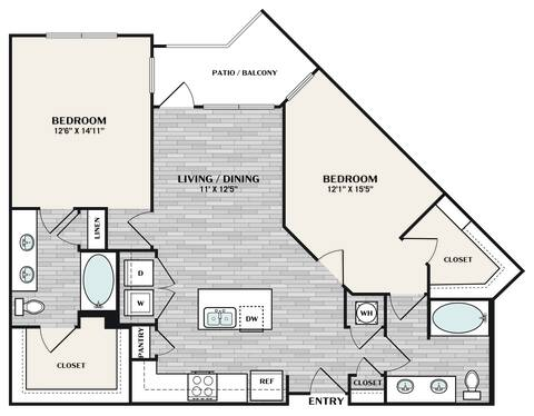 Floorplan B3 ALT1 layout