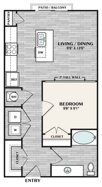 A 2D drawing of the A floor plan