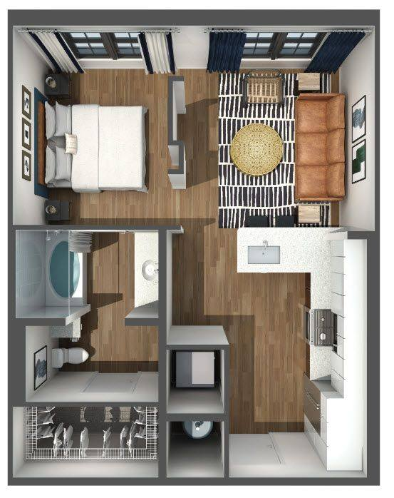 A 3D rendering of the S3 floor plan