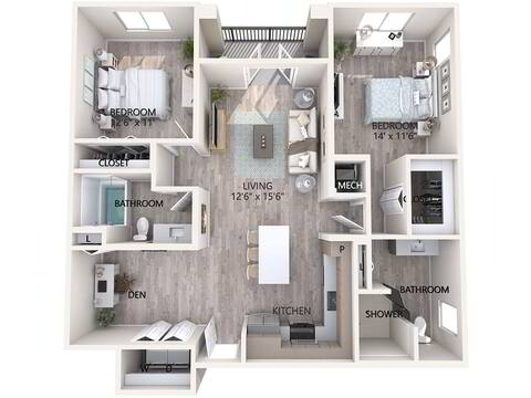 Floorplan Unit B2  layout
