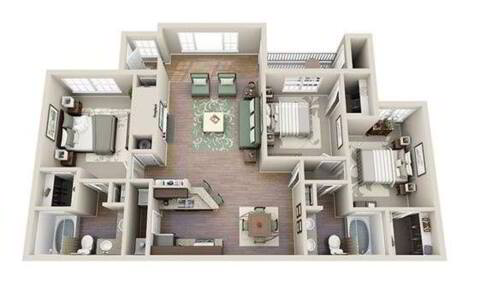 Floorplan C1 layout