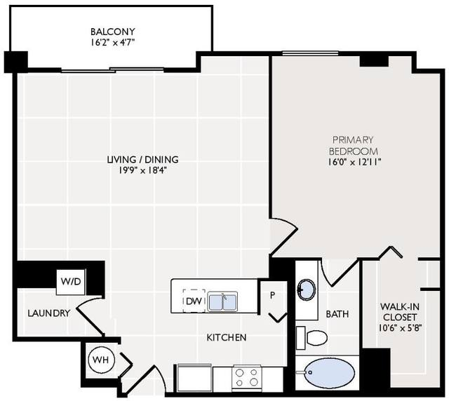 A 2D drawing of the Hibiscus floor plan