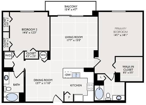 Floorplan Galiano layout