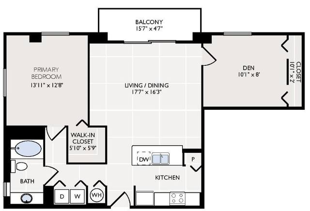 A 2D drawing of the Florida floor plan