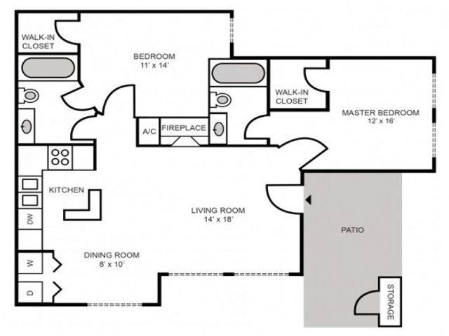 A 2D drawing of the Cape Cod Classic floor plan