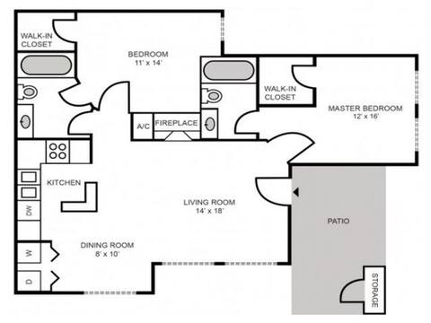 Floorplan Cape Cod layout