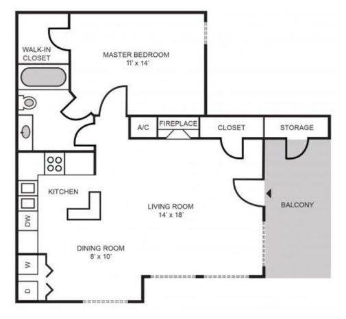 A 2D drawing of the Manchester Classic floor plan