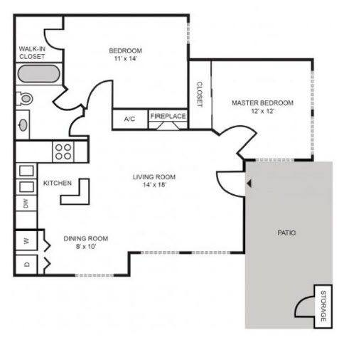 A 2D drawing of the Providence Classic floor plan